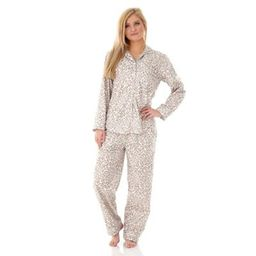 Micro Flannel Extra Large Leopard 2-Piece Pajama Set | Bed Bath & Beyond