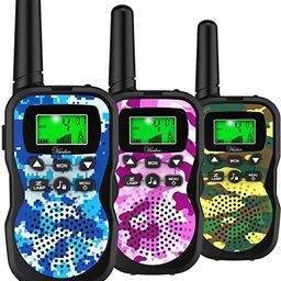 Huaker Kids Walkie Talkies,3 Pack 22 Channels 2 Way Radio Toy with Flashlight and LCD Screen,3 Mi...   Amazon (US)