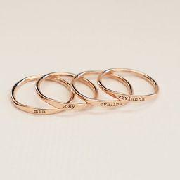 Custom Delicate Name Ring  Custom Stacking Rings  Skinny | Etsy | Etsy (US)