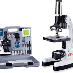 AmScope 120X-1200X 52-pcs Kids Beginner Microscope STEM Kit with Metal Body Microscope, Plastic S...   Amazon (US)