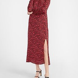 Floral Ruched Sleeve Midi Dress | Express