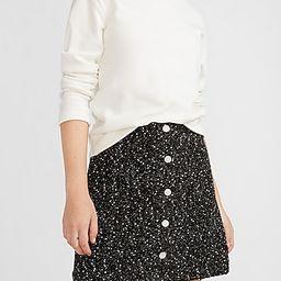 High Waisted Jewel Embellished Tweed Mini Skirt | Express