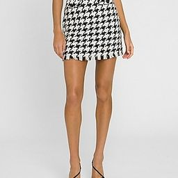 Grey Lab High Waisted Houndstooth Tweed Mini Skirt | Express