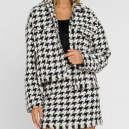 Grey Lab Button Down Tweed Jacket | Express