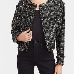 Drop Shoulder Tweed Blazer | Express