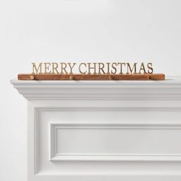"26"" x 3"" Merry Christmas Stocking Holder Gold - Threshold™ | Target"