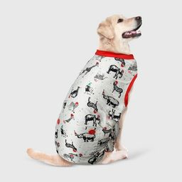 Holiday Safari Animal Dog and Cat Matching Family Pajamas - Gray - Wondershop™   Target