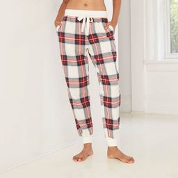 Women's Perfectly Cozy Plaid Flannel Jogger Pajama Pants - Stars Above™ | Target