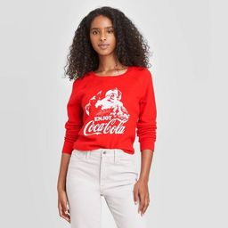 Women's Coca-Cola Santa Crewneck Lounge Sweatshirt - Red | Target