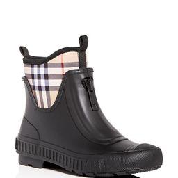 Women's Flinton Check Rain Booties | Bloomingdale's (US)