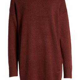 Easy Crewneck Long Sleeve Sweater Dress   Nordstrom
