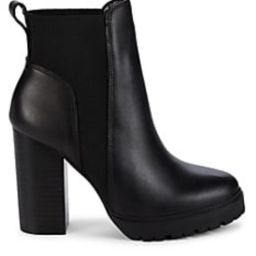 Ibby Leather Heeled Booties   Saks Fifth Avenue OFF 5TH
