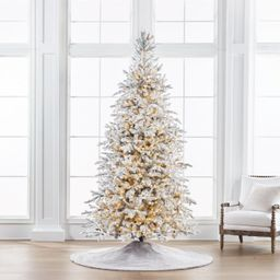 Sparkling Snow Color Changing Full Profile Tree   Frontgate   Frontgate