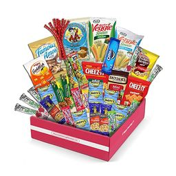 Holiday Snack Box Variety Pack, (40 Count) Christmas Candy Gift Basket - College Student Care Pac... | Amazon (US)