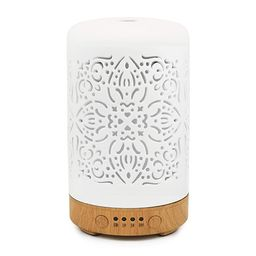 Earnest Living Essential Oil Diffuser White Ceramic Diffuser Classic Ver 2 - No Beep Noise - 4 Ti... | Amazon (US)