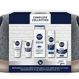 NIVEA MEN Complete Skin Care Collection for Sensitive Skin, 5 Piece Gift Set | Amazon (US)