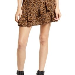 Leopard Ruffle Miniskirt   Nordstrom