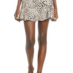 Flare Leopard Print Miniskirt   Nordstrom