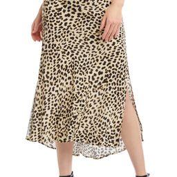 Leopard Print Bias Cut Skirt   Nordstrom