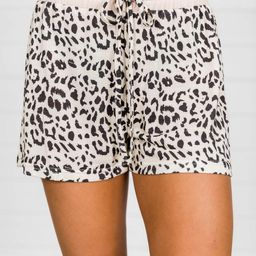 Taking Your Time Animal Print Lounge Shorts | The Pink Lily Boutique