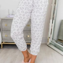 Speechless Beauty Animal Print Joggers Grey | The Pink Lily Boutique