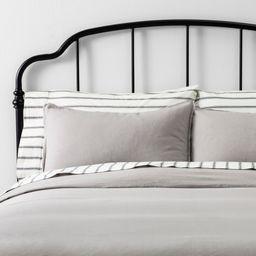 Full/Queen Duvet Cover Set Linen Jet Gray - Hearth & Hand with Magnolia | Target