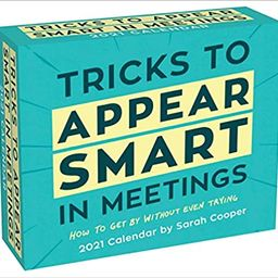 Tricks to Appear Smart in Meetings 2021 Day-to-Day Calendar    Calendar – Day to Day Calendar, ... | Amazon (US)