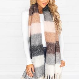 This Is Rare Colorblock Cream Scarf   The Pink Lily Boutique