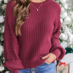 See You Around Knit Purple Sweater   The Pink Lily Boutique