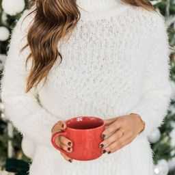 A Moment To Shine White Popcorn Pullover   The Pink Lily Boutique
