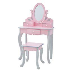 Teamson Kids - Little Princess Rapunzel Play Vanity Set - Pink / Grey   Walmart (US)