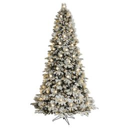 GE 7.5-ft Candlewood Pine Pre-Lit Traditional Flocked Artificial Christmas Tree with 600 Multi-Fu...   Lowe's