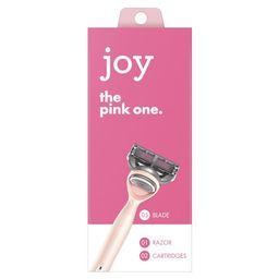 Joy Razor Handle and 2 Blade Refill Cartridges, Pink | Walmart (US)