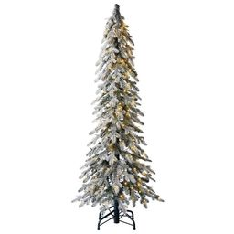 Holiday Living 5-ft Alpine Pre-Lit Slim Flocked Artificial Christmas Tree with 300 Constant Warm ...   Lowe's