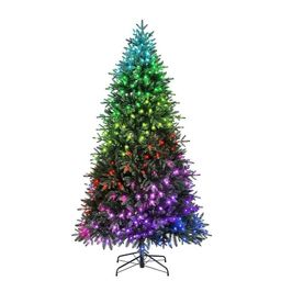 Holiday Living 7.5-ft Pre-Lit Artificial Christmas Tree with 435 Color Changing Color Changing LE...   Lowe's