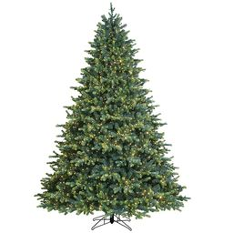 GE 7.5-ft Georgia Fir Pre-Lit Traditional Artificial Christmas Tree with 3000 Multi-Function Colo...   Lowe's