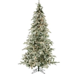 Fraser Hill Farm 9-ft Pine Pre-Lit Traditional Flocked Artificial Christmas Tree with 800 Constan...   Lowe's
