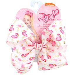 JoJo Siwa Hair Bow, White with Pink Flamingo   Walmart (US)