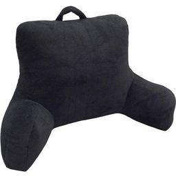Mainstays Micro Mink Plush Backrest Lounger Pillow, Rich Black | Walmart (US)