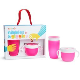 Munchkin Nibbles & Giggles Toddler Gift Set, Includes 10oz Miracle 360 Cup and Snack Catcher, Pin... | Walmart (US)