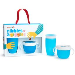 Munchkin Nibbles & Giggles Toddler Gift Set, Includes 10oz Miracle 360 Cup and Snack Catcher, Blu... | Walmart (US)