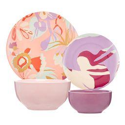 Botanical Watercolor 16 Piece Dinnerware Set by Drew Barrymore Flower Home | Walmart (US)