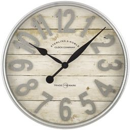 Better Homes & Gardens Farmhouse Plank with Galvanized Finish Wall Clock | Walmart (US)