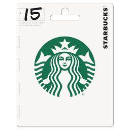 Starbucks $15 Gift Card   Walmart (US)