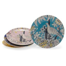 Tropical Toile Bird Mix and Match 4 Piece Appetizer Plate Set by Drew Barrymore Flower Home | Walmart (US)