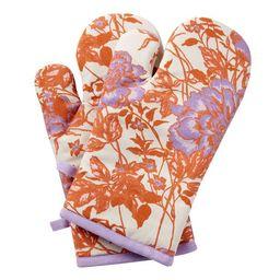Vintage Floral Oven Mitt 2 Piece Set, Amethyst by Drew Barrymore Flower Home | Walmart (US)