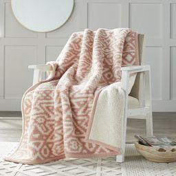 "Better Homes & Gardens Sherpa Throw Blanket, 50"" x 60"", Pink Southwest Diamond | Walmart (US)"