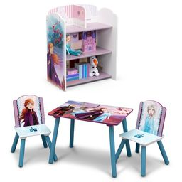Disney Frozen II 4-Piece Playroom Set by Delta Children – Includes Table and 2 Chair Set and 3-... | Walmart (US)