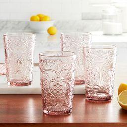 The Pioneer Woman Amelia 15.22-Ounce Rose Glass Tumblers, Set of 4 | Walmart (US)