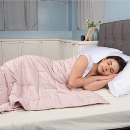 Sleep Therapy 2Pc Weighted Blanket and Cover, 15lbs, 48 x 72, Blush | Walmart (US)